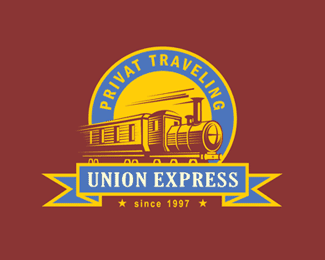 Union Express is a colorful logo design