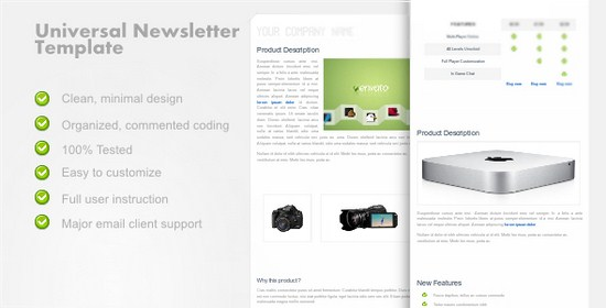 UniversalNewsletter – Clean Email Template