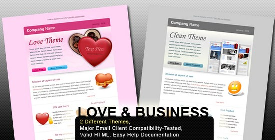 Valentine and Business – Email Template