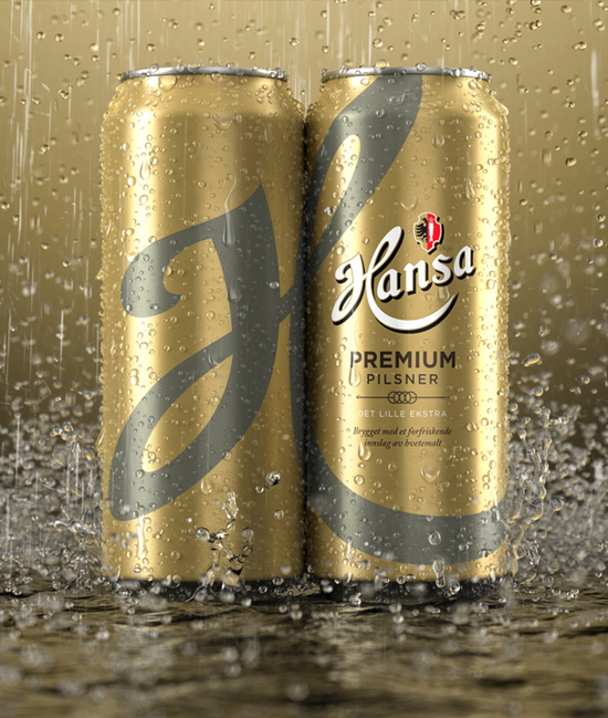 3D Hansa Beer Cans – Packaging & Advertising