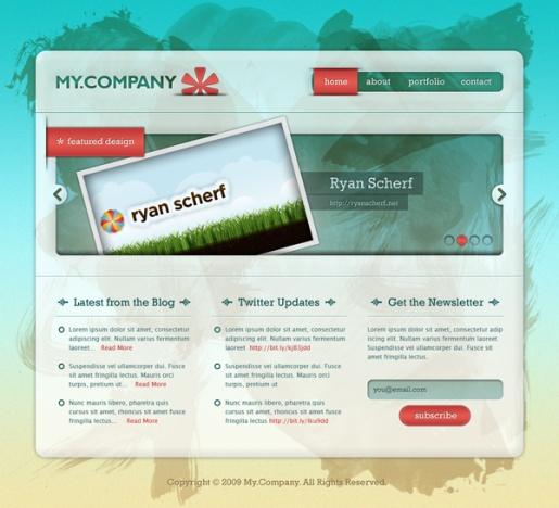 Create a Grungy, Translucent Web Portfolio Design