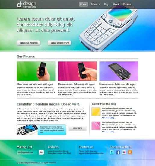 Create a Vibrant Professional Web Design in Photoshop