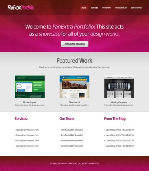 Design a Cool Textured Portfolio Website