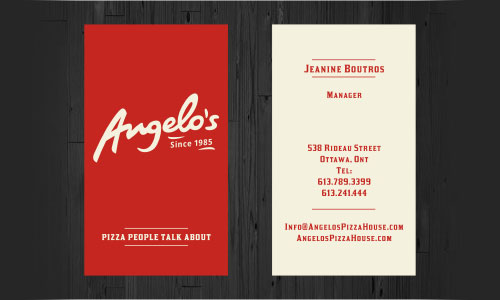 Angelo's Business Card