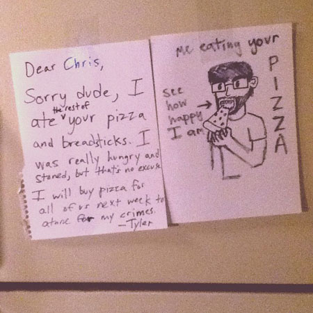 The 20 Super Funny Roommate Notes