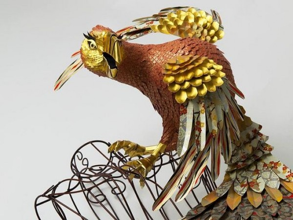 Fantastic Bird Sculptures Made Out of Papers | The Wondrous Design ...