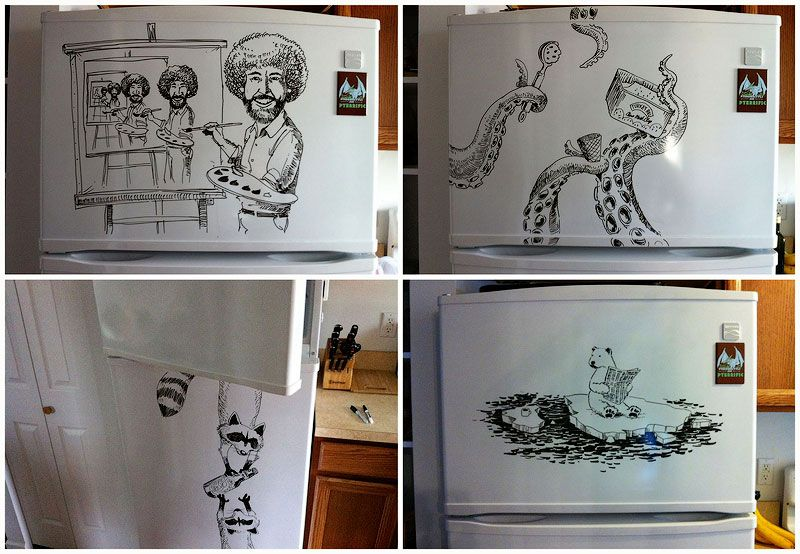 Marker Drawings by Charlie Layton