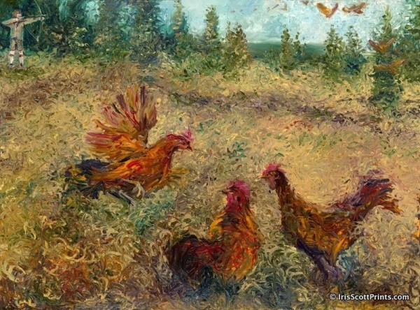 Awesome Finger Paintings by Iris Scott