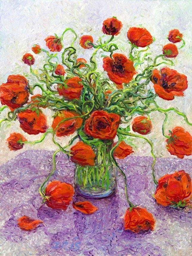 Brilliant Finger Paintings by Iris Scott
