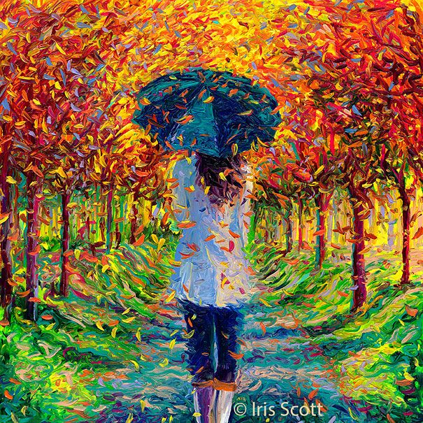 Wonderful Finger Paintings by Iris Scott