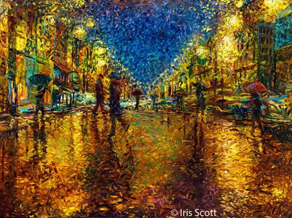 Wonderful Finger Paintings by Iris Scott