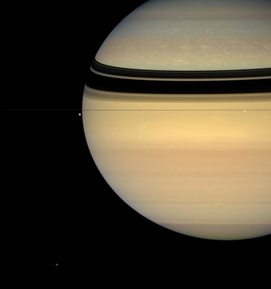 What they look tiny against the backdrop of the planet?
