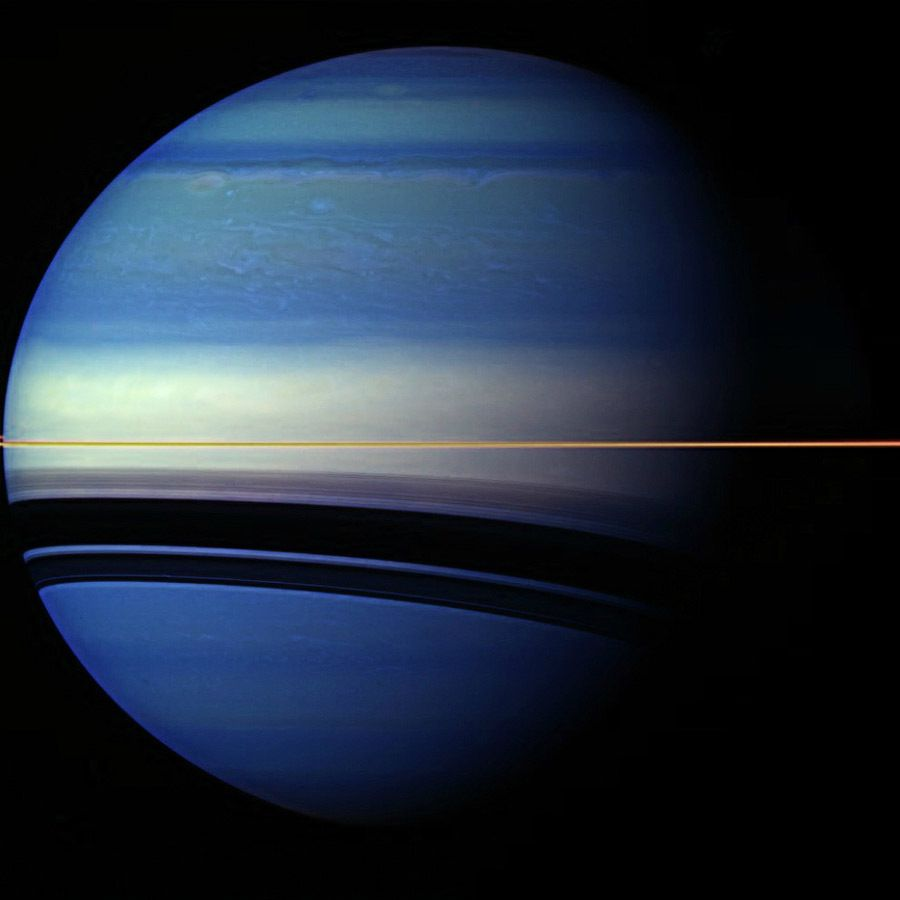 Saturn is painted in unusual colors