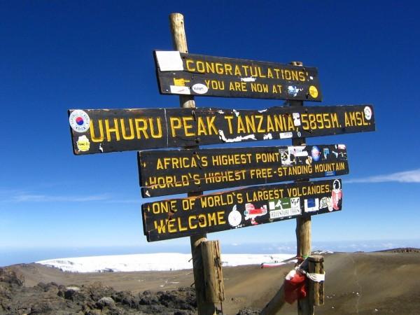 Mount Kilimanjaro Road Sign