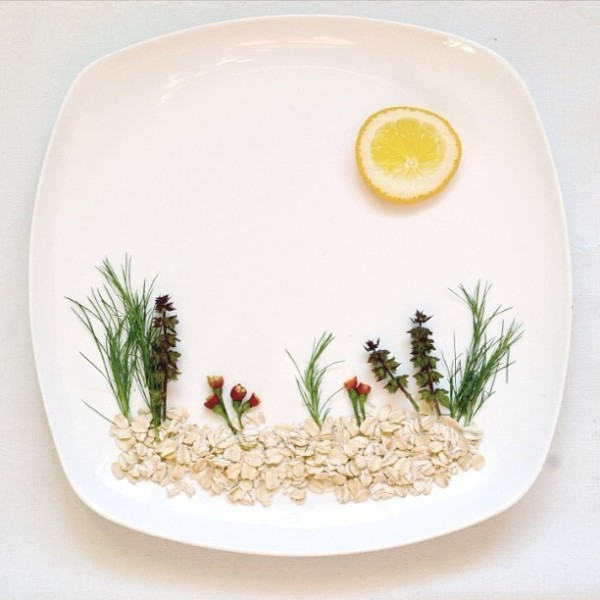Pictures of food from artist Red