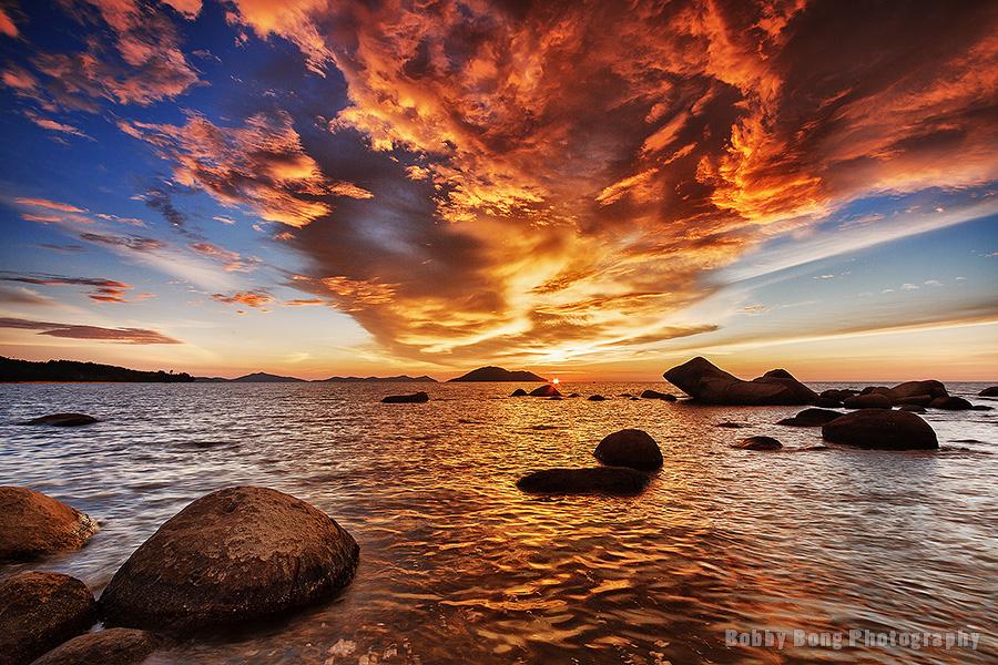 Fire Sunset by Bobby Bong
