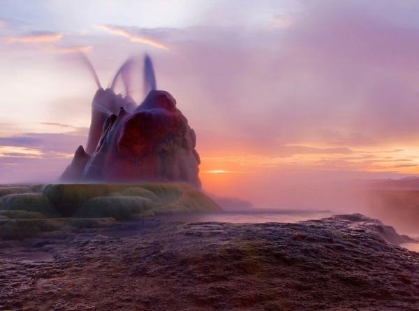 Unusual Fly Geyser in the Black Rock Desert