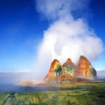 Unusual Fly Geyser in the Black Rock Desert