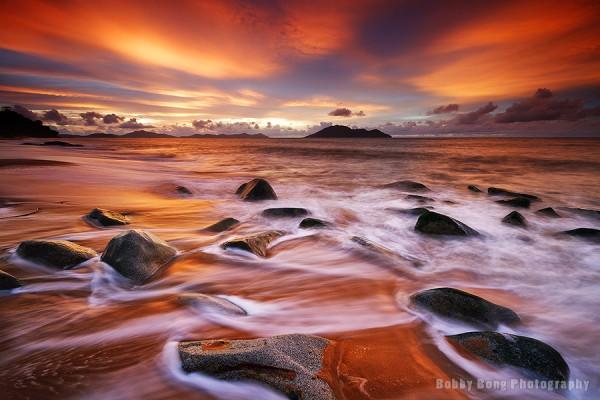 Red Light Sunset by Bobby Bong