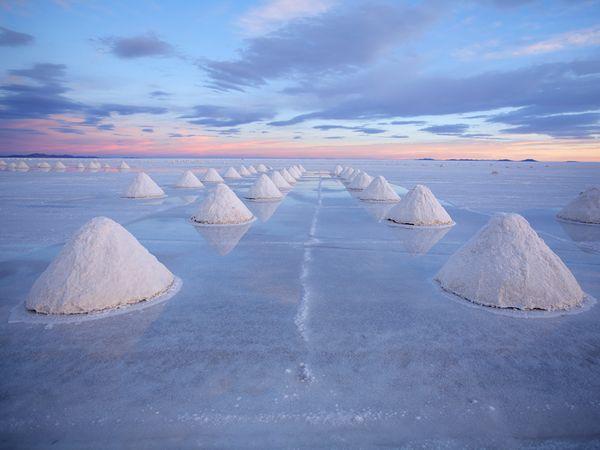 Salt Cones, Bolivia