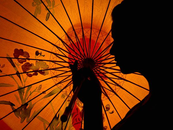 Woman With Parasol, Australia