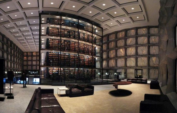 Library of rare books and manuscripts Beinecke, Yale University