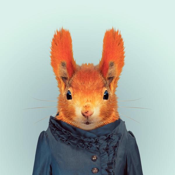 New Internet Trend? Animal As Fashion Models