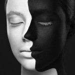 Black and White Faces by Alexander Khokhlov