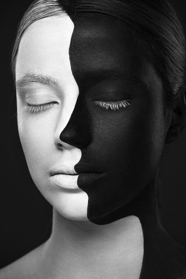 Black and White Faces