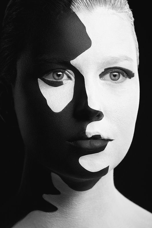 Black and White Faces Photography