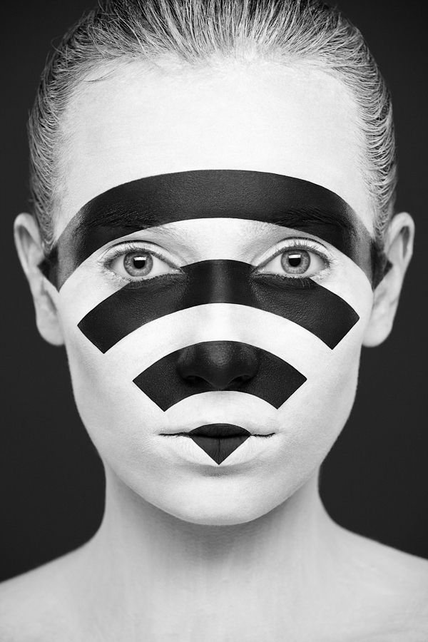 Black and White Faces Art