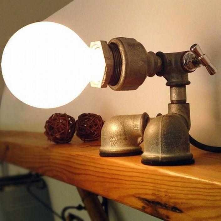 Светильники в трубах дизайн