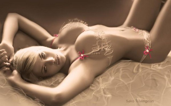 Lady in Red Ribbons