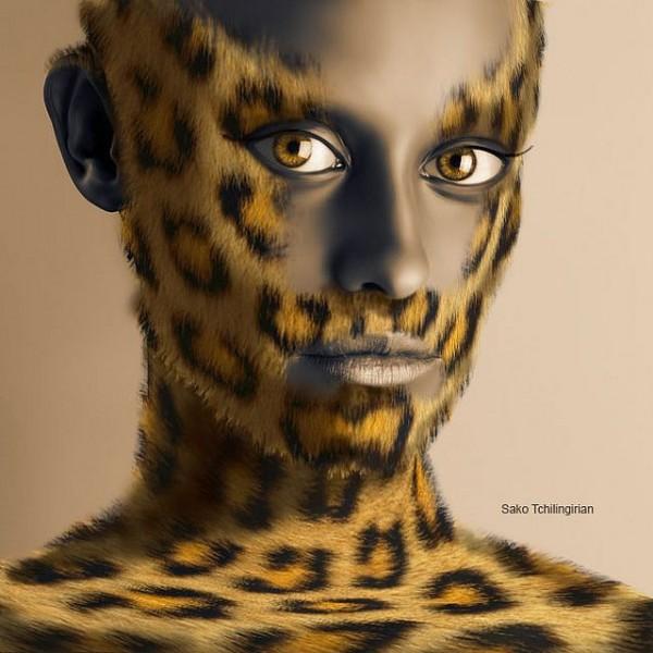 Man in Leopard Skin