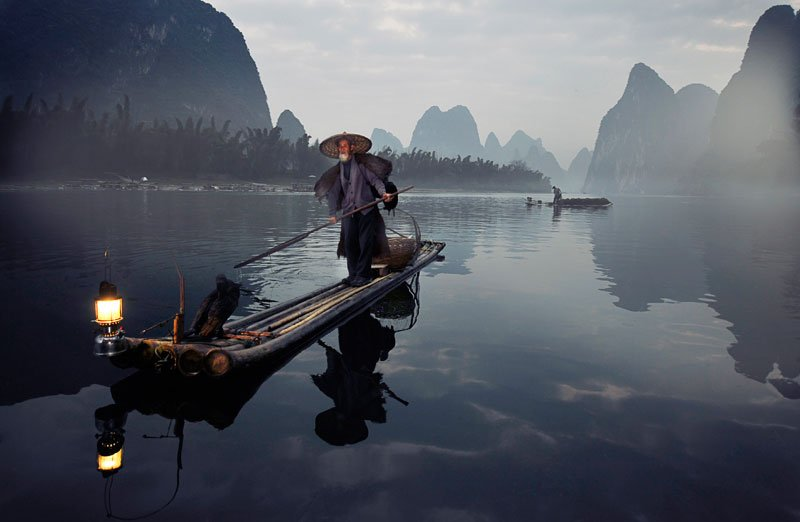 The Fisherman and the cormorant