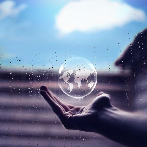 World in bubble