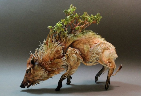 Celtic Wild Boar with Forest