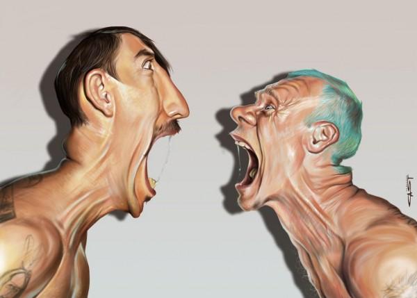Brilliant Celebrity Caricatures by Sebastian Cast