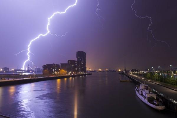 Thunderstorm in Rotterdam