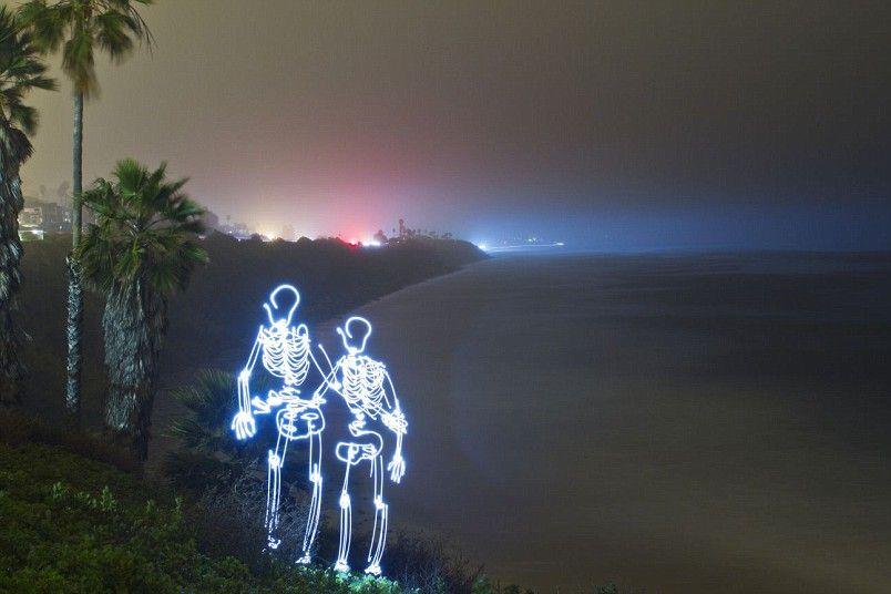 A pair of skeletons