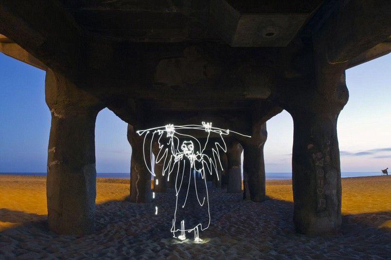 Light images of Grim Reaper