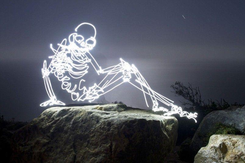 Holidaymaker skeleton