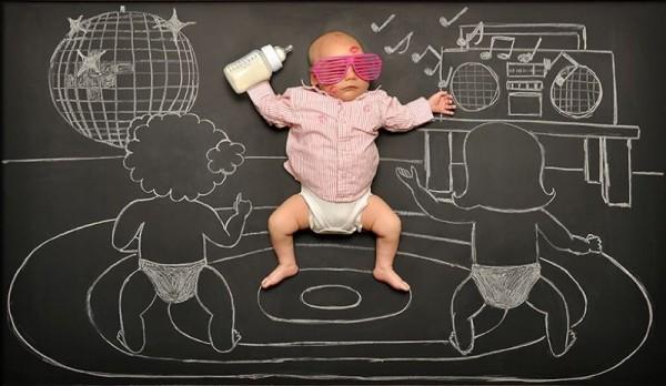 Mom Creates Baby's Blackboard Adventures