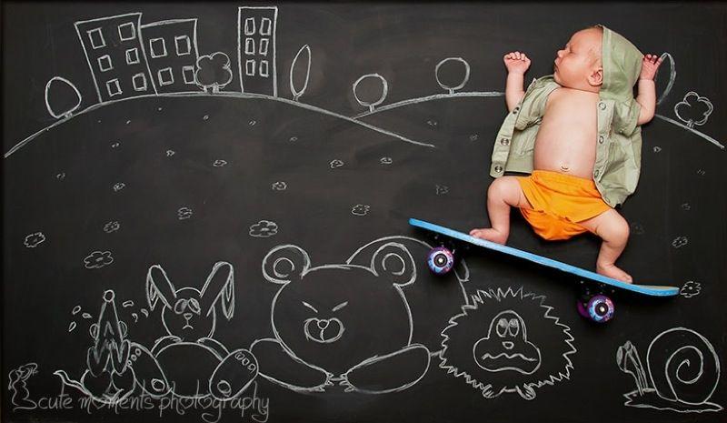 Dreamy Chalkboard Drawings