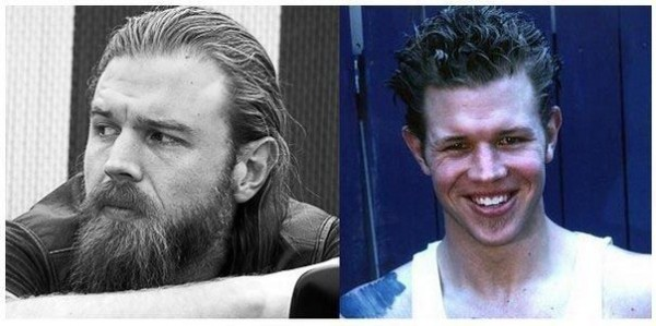 Celebrities with and without a Beard