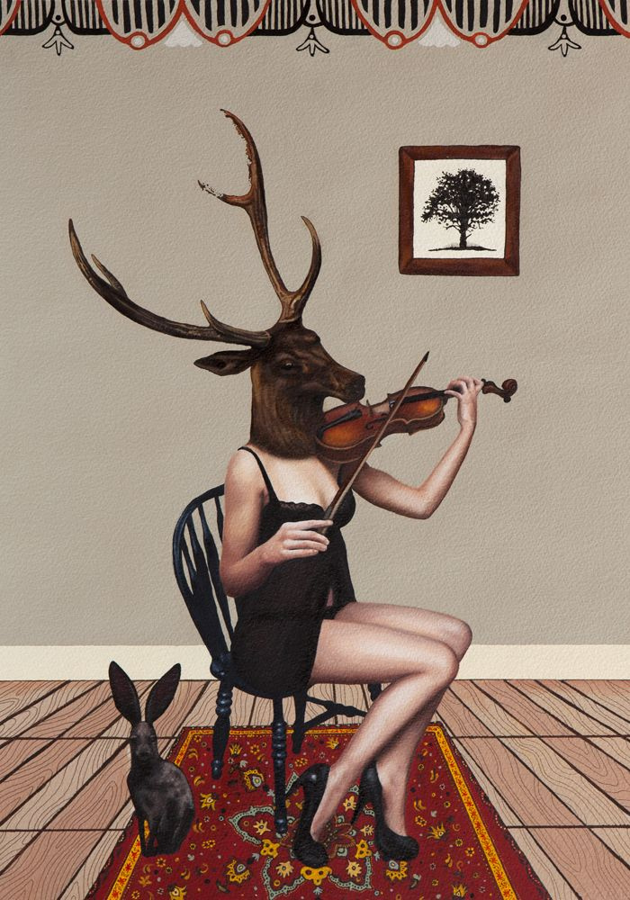 Incredible Deer Girls Portraits by Emily Burns