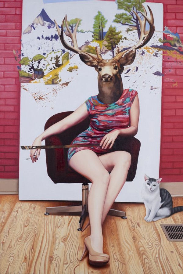 Incredible Deer Girls Portraits by Emily Burns