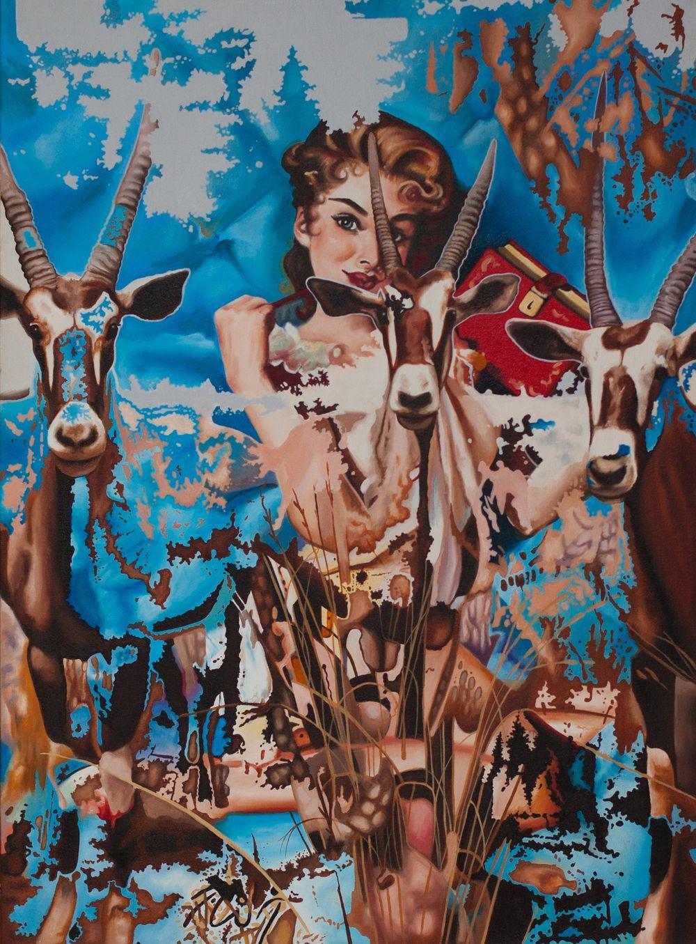 Pin-Up Portraits of Deer Girls