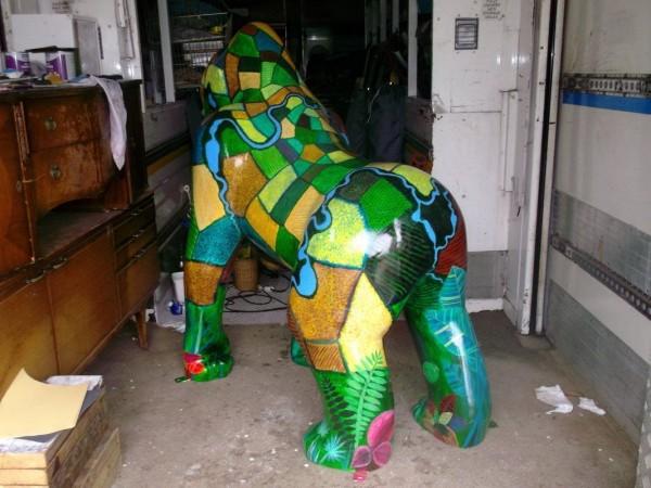 Wonderful Gorilla Sculptures in Norwich