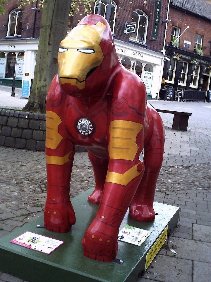 Awesome Iron Man Gorilla Pops Up in Norwich